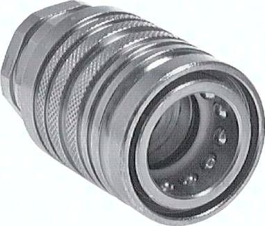 Steckkupplung ISO7241-1A, Muffe Baugr.2T, 12 S