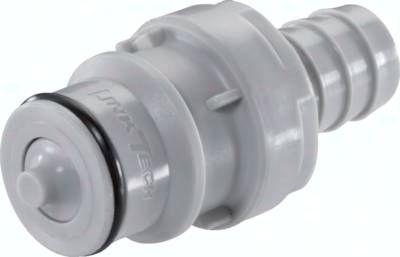 Kupplungsstecker (HF) mit Schlauchtülle, Polypropylen