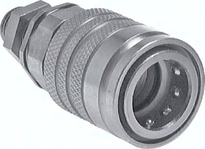 Schott-Steckkupplung ISO7241-1A, Muffe Baugr.3, 10 L