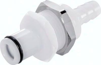 Schott-Kupplungsstecker (LC) mit Schlauchtülle, POM