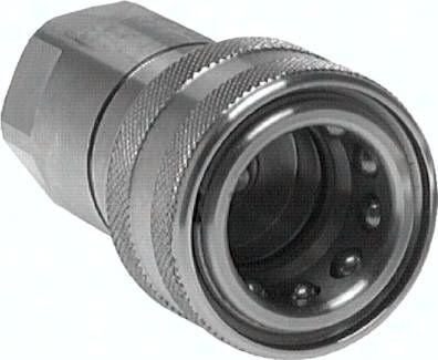 "Hydraulikkupplung ISO 7241-1B, Muffe, G 1/2""(IG),Edelstahl"