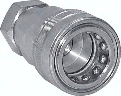 "Hydraulikkupplung ISO 7241-1B, Muffe, NPT 1/4""(IG), Stahl"