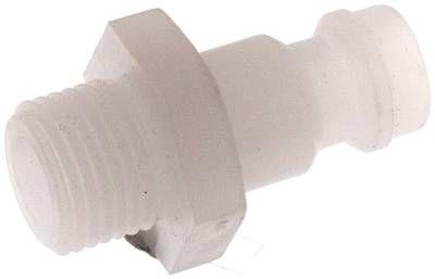 """Kupplungsstecker (NW5) G 1/8"""" (AG), PVDF"""