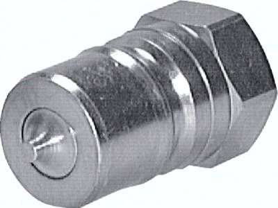 "Hydraulikkupplung ISO 7241-1B, Stecker, G 3/4""(IG), Stahl"