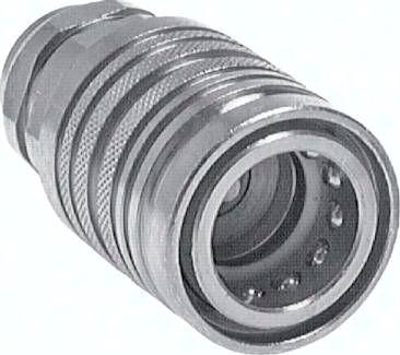 Steckkupplung ISO7241-1A, Muffe Baugr.2T, M 18 x 1,5(IG)