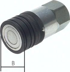 """CEJN-Flat-Face-Kupplung ISO 16028, Muffe Baugr.4, G 3/4"""""""