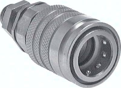 Schott-Steckkupplung ISO7241-1A, Muffe Baugr.6, 20 S