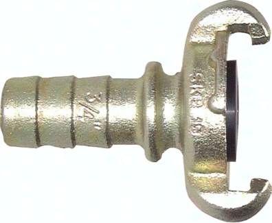 Kompressorkupplung 10 mm Schlauch m. Sicherungsbund