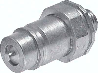 Steckkupplung ISO7241-1A, Stecker Baugr.2T, 8 L