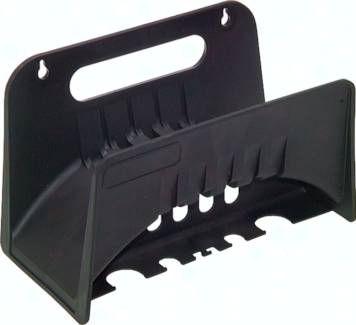 Standard-Wandschlauchhalter Kunststoff - schwarz, 260x165x120mm