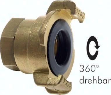 """GK-Schlauchkupplung,G 3/4""""(IG), drehbar, Messing"""