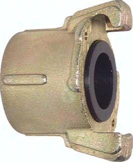 Sandstrahlkupplung Temperguss verzinkt, 50 mm Grobgew. (IG)
