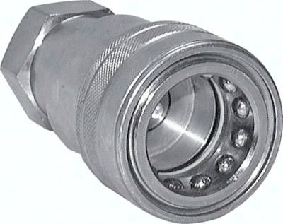 "Hydraulikkupplung ISO 7241-1B, Muffe, G 1/2""(IG), Stahl"