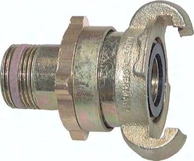 "Sicherheits-Kompressorkuppl. G 1""(AG), 16 bar Temperguss verz."