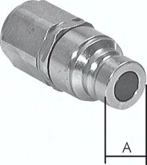 "Flat-Face-Kupplung ISO 16028, Stecker Baugr. 2, G 1/2""(IG)"