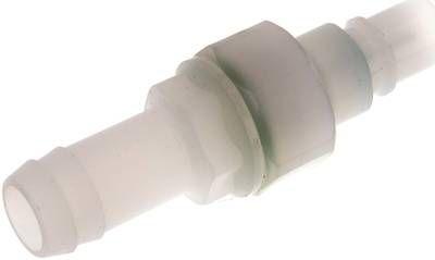 Kupplungsstecker (NW7,2) 13 mm Schlauch, PVDF absperrend