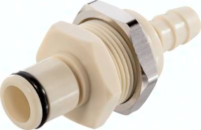 Schott-Kupplungsstecker (LC) mit Schlauchtülle, Polypropylen (beige)