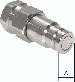 "ES-Flat-Face-Kupplung ISO 16028, Stecker Baugr.3, G 3/4"""