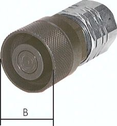 "Flat-Face-Schraubkupplung, Stecker Baugr. 2, G 1/2""(IG)"