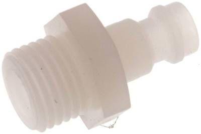 """Kupplungsstecker (NW5) G 1/4"""" (AG), PVDF"""