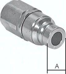 "Flat-Face-Kupplung ISO 16028, Stecker Baugr. 3, G 3/4""(IG)"