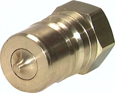"Hydraulikkupplung ISO 7241-1B, Stecker, G 1/4""(IG),Messing"