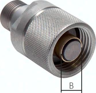 Hydraulik-Rohrleitungskupp-lung, Stecker Baugr.2, 15 L