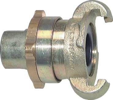 "Sicherheits-Kompressorkuppl. G 1/2""(IG), 16 bar Temperguss verz."