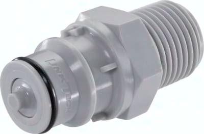 Kupplungsstecker (HF) mit Außengewinde, Polypropylen