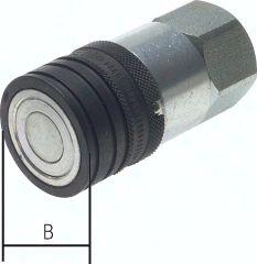 """CEJN-Flat-Face-Kupplung ISO 16028, Muffe Baugr.2, G 1/2"""""""