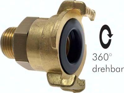 "GK-Schlauchkupplung,G 1""(AG), drehbar, Messing"