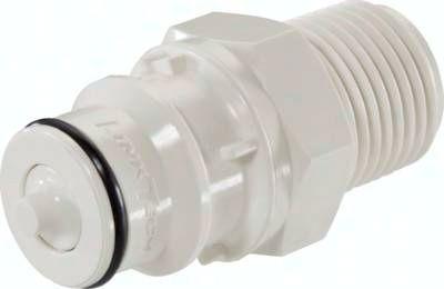 Kupplungsstecker (HF) mit Außengewinde, Polysulfon