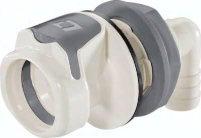 Winkel-Schott-Kupplungsdose (HF) mit Schlaucht., Polysulfon