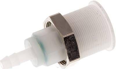 Abreißkupplungsdose (NW5) 6 (innen) mm Schlauch, PVDF
