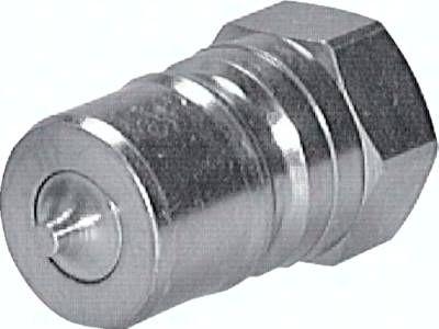 """Hydraulikkupplung ISO 7241-1B, Stecker/Druckeleminator, G 1/2""""(IG), Stahl"""