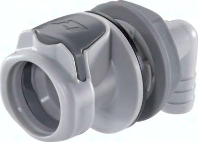 Winkel-Schott-Kupplungsdose (HF) mit Schlaucht., Polypropylen