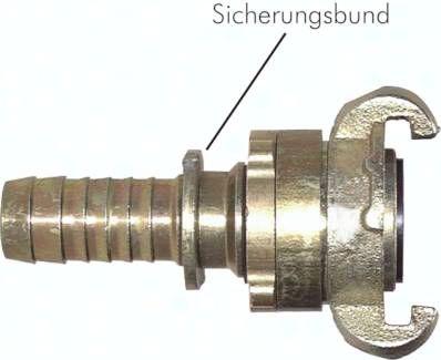 """Sicherheits-Kompressorkuppl. 25 (1"""") mm Schlauch, S-Bund"""